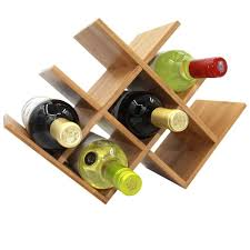 amazon com autree natural bamboo wine rack 8 bottles countertop