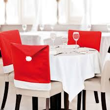 christmas chair back covers 1pcs santa claus cap chair cover christmas dinner table party