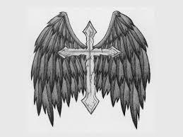 tatos me cross with wings designs