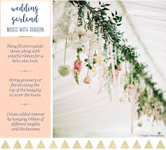 wedding garland 15 ways to hang a wedding garland you wish you thought of ftd