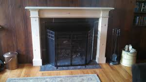 custom knotty pine fireplace mantel and surround by dan fabian