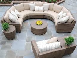 curved outdoor sofas curved outdoor wicker sofa patio furniture