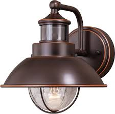 Vaxcel Nautical Lighting by Vaxcel T0252 Harwich Dualux Burnished Bronze Outdoor Motion Sensor