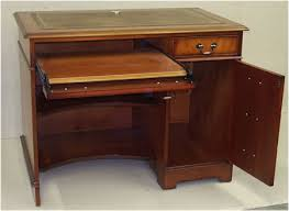 Pedestal Computer Desk Yew And Mahogany Reproduction Single Pedestal Computer Desk