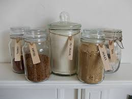 Kitchen Storage Labels - abywillow wooden jar labels tags tea coffee sugar biscuits