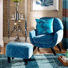 Milano Teal Chair  Footstool Fabulous Occasional Chair And - Milano bedroom furniture