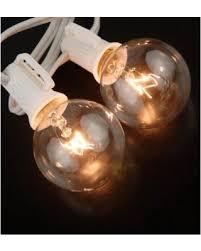 deals on globe lights string lights white cord 10 g40 c7 bulbs 40 5ft