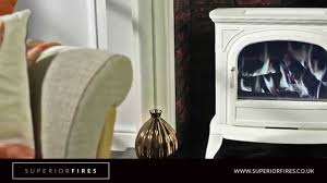 superior fires hambleton white lcd electric stove youtube