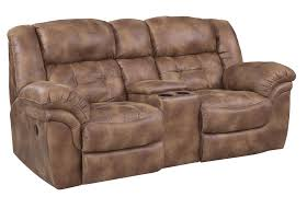Ashley Furniture Microfiber Loveseat Furniture Reclining Loveseat With Center Console Recliner