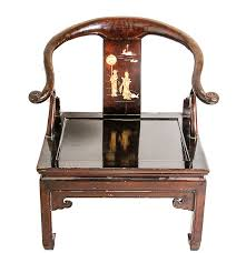 Chinese Armchair Vintage Chinese Huanghuali Horseshoe Back Armchair Ebth