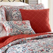 Queen Quilted Coverlet Amrapur Overseas 6pc Quilted Coverlet Set Rust Red White Size