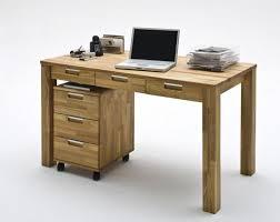 Schreibtisch Aus Eiche Schreibtisch Mit 3 Schubladen Computertisch 135x70 Eiche Massiv
