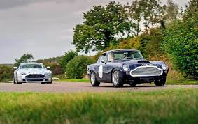 aston martin db4 zagato twin test 1960 aston martin db4 gt and 2016 aston martin v8