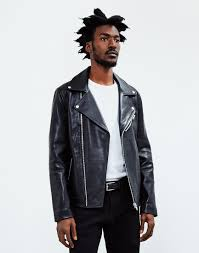 biker jacket sale the idle man leather biker jacket black at the idle man