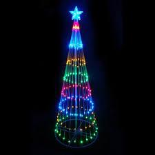 16190199 9 ft multi color led light show cone tree