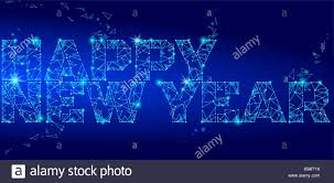 electronic new year cards geometric polygonal 2018 new year greeting card low poly triangle