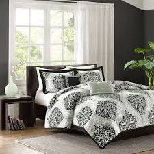 black and white comforters queen hello hearts comforter set