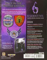 resident evil 6 limited edition strategy guide bradygames