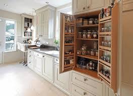 kitchen built in cabinets dark brown wooden counter white wooden