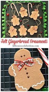 felt gingerbread ornaments little miss celebration