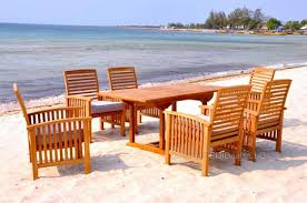 indonesian teak table outdoor patio dining set w 5 chairs u2013 san