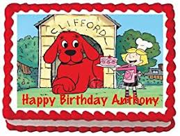 amazon com clifford the big red dog edible frosting sheet cake