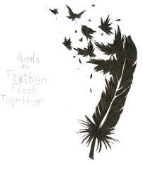 stylish beautiful feather and bird tattoo design tattoomagz