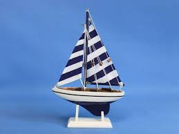nautical cake toppers blue striped pacific sailer 9 sailboat wedding cake topper sail