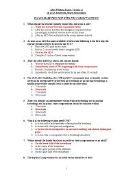 cpr exam answers cardiopulmonary resuscitation clinical medicine