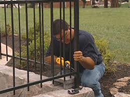 how to install a fence around a courtyard how tos diy
