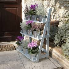 Wooden Patio Plant Stands by Plant Theatre In Powder Blue Plants Kitchens And Gardens