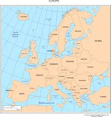 Europe Map Political by Europe Map With Cities Blank Outline Map Of Europe