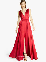 modern dress modern v neckline sleeveless ruby chiffon prom dress