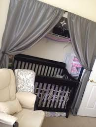 Diy Nursery Curtains Crib In Closet Space For The Home Pinterest Crib Spaces And