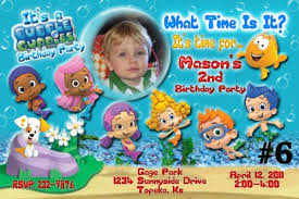 20 printed bubble guppies birthday invitations photo