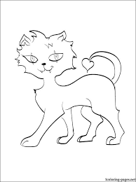 monster high clawdeen wolf coloring pages crescent monster high coloring page coloring pages 2 color