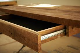 Homemade Wood Computer Desk by How To Build A Reclaimed Wood Office Desk How Tos Diy
