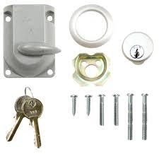 door locks commercial an old iron lock in a metal garage door