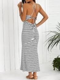 halter striped maxi dress white and black maxi dresses xl zaful