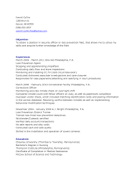 Sample Resume Objectives Tourism by Law Enforcement Objective For Resume Free Resume Example And