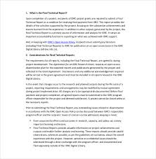 template for technical report technical report template 8 free word pdf documents
