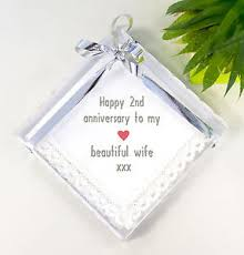2nd wedding anniversary gift ideas for cotton 2nd wedding anniversary gift idea handkerchief for