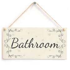 Country Home Decor Signs by French Vintage Bathroom Signs Sign For Bathroom In English