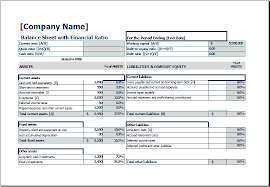 liquidity report template balance sheet with financial ratio excel templates