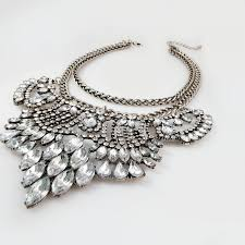 necklace baby images Ice ice baby crystal cascade silver chain statement necklace jpg