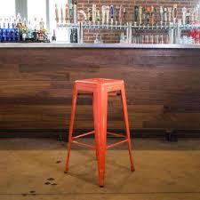 modern orange bar stools fresh kitchen the most awesome orange metal bar stools modern with
