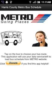 free houston metro bus schedule cell phone app
