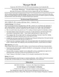 assistant manager resume assistant manager resume sle