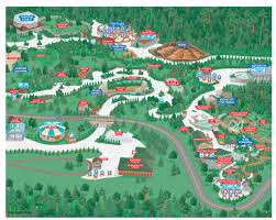 National Zoo Map Wayfinding City Park And College Campus Map Illustration U0026 Design