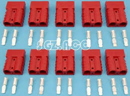 10 x 50amp dc power connector anderson style plug 12v 24v trailer